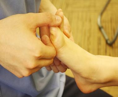 外反母趾 施術の流れ