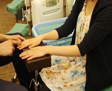 肘痛 施術の流れ
